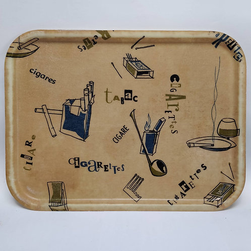 'Cigarettes, Cigare, Tabac' French Tray