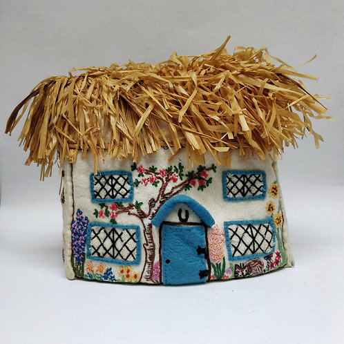 Embroidered Cottage Tea Cosy
