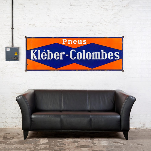 LARGE KLÉBER-COLOMBES TYRES ENAMEL SIGN