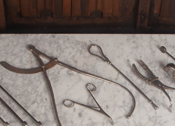 A Group of Early 20th Century Midwives Medical Instruments