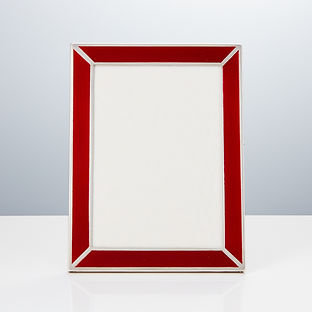20th Century Art Deco Sterling Silver and Guilloche Enamel Photo Frame, 1925