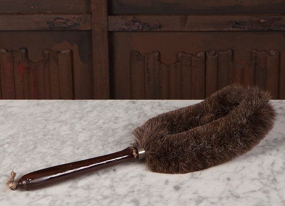 A Long Late Victorian Handled Brush for Upholstery