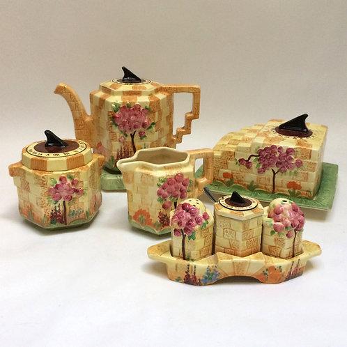 Five Piece 'Sundial' Tea Set By Beswick