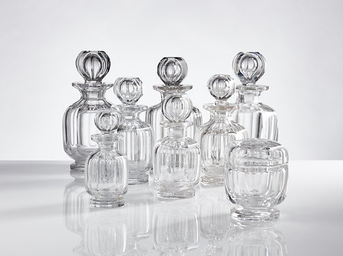 Collection of Mid-20th Century Baccarat Glass Toiletry Bottles, circa 1950