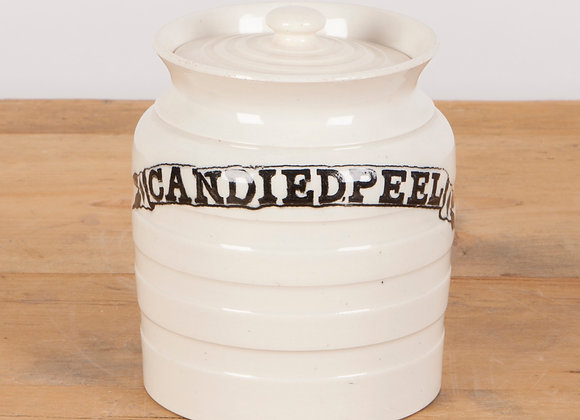 Early 20th Century Candied Peel' Lidded Jar