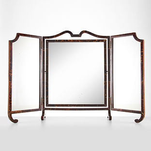 20th Century Large Art Deco Tortoiseshell Three Fold Vanity Mirror, circa 1920