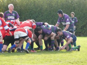 Minety 2nd XV scrum down against Calne seconds