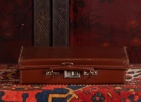 Small Early 20th Century Fiber Suitcase