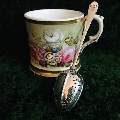 A Patent Victorian Silver Tea-Infuser Spoon.