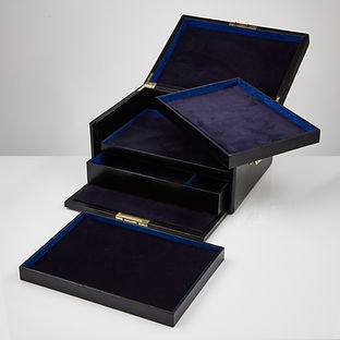A Stunning Early 20th Century Black Leather Document Box, 1910