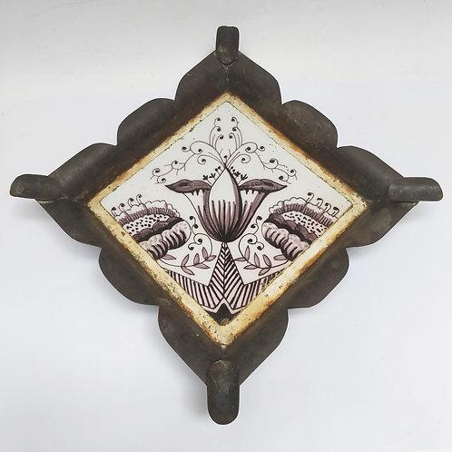 Manganese Delft Tile Trivet