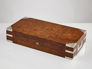 An Early 20th Century Birds Eye Maple Collectors Box, 1935