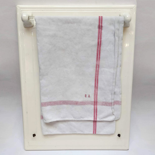 Large Ceramic and glass towel rack