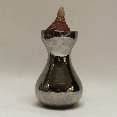 'Silver' Glass Bulb Vase