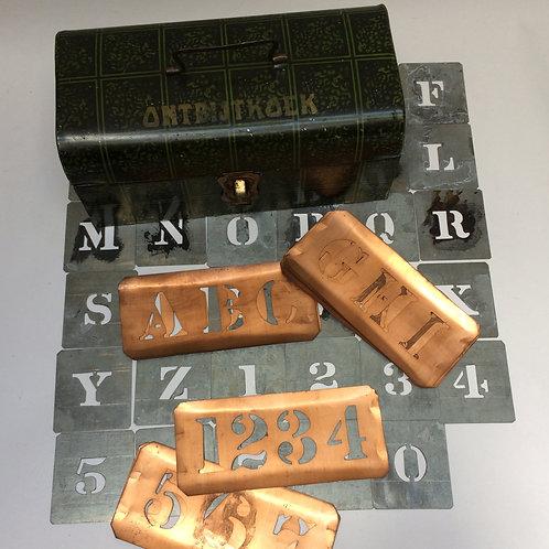 Dutch Gingerbread Tin With Stencils