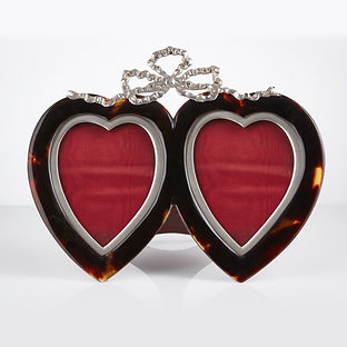 Tortoiseshell and Silver Heart Photograph Frame Dated London, 1897