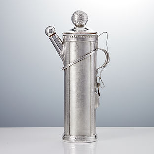 Novelty 20th Century Art Deco Period Golf Bag Cocktail Shaker USA, circa 1930
