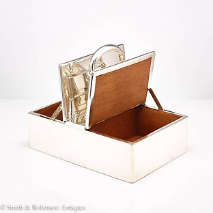 Great Automated English Silver Cigar Box Dated London 1913