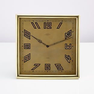 Large 20th Century Art Deco Desk Clock Made by Kendall of Paris, circa 1930