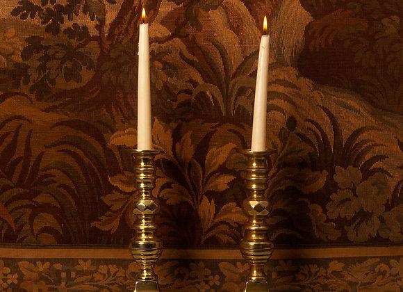 A Pair of Victorian Brass Candlesticks