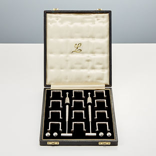 Miniature Sterling Silver Croquet Table Set by Christopher Lawrence, London 1975