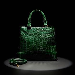 Green Tote Handbag