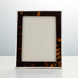 Large Antique Sterling Silver and Tortoiseshell Photo Frame