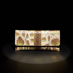 A Late 20th Century Python Clutch Bag by Carlos Falchi