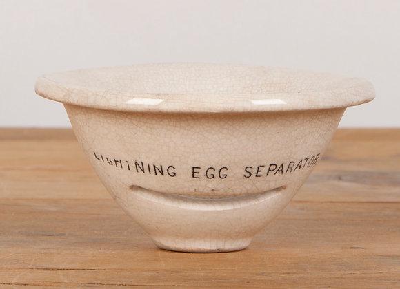 White Pottery Egg Separator