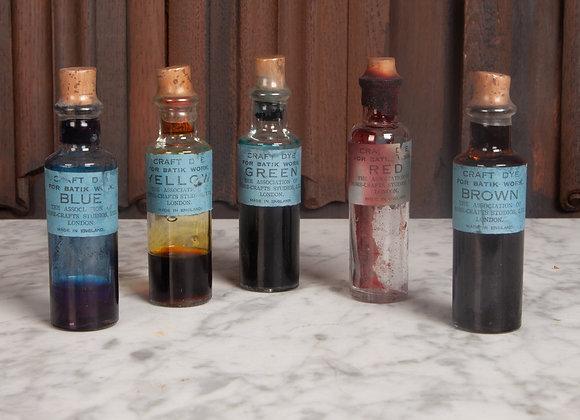 Set of 5 Early 20th Century Bottles of Dye