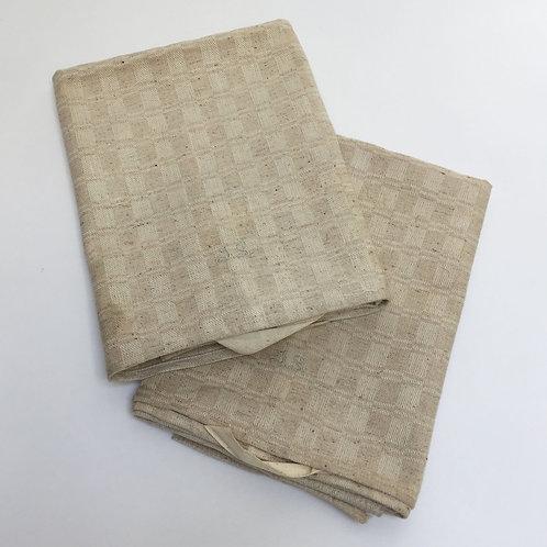 Pair Natural Linen Kitchen Towels With Initials JS