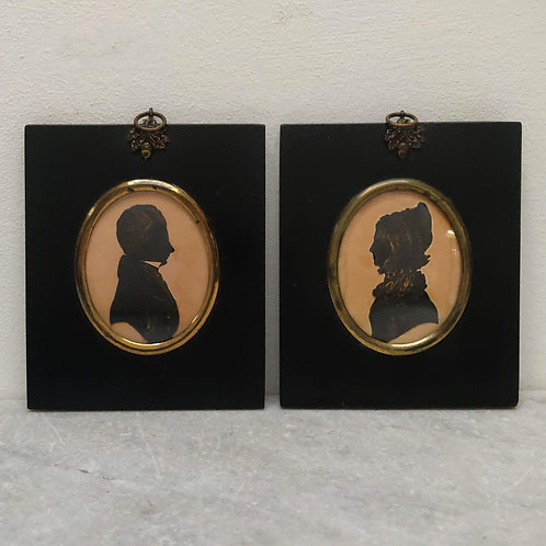 Pair Of 1832 E. Whittle Cut Silhouettes