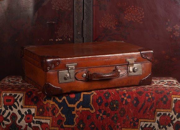 Substantial  Late Victorian Leather Suitcase