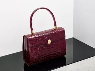 Deep Red Vintage Crocodile Handbag
