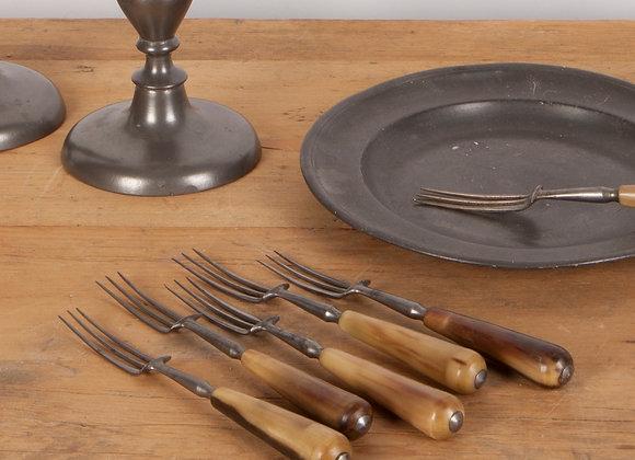 Set of 6 Horn Handled Forks