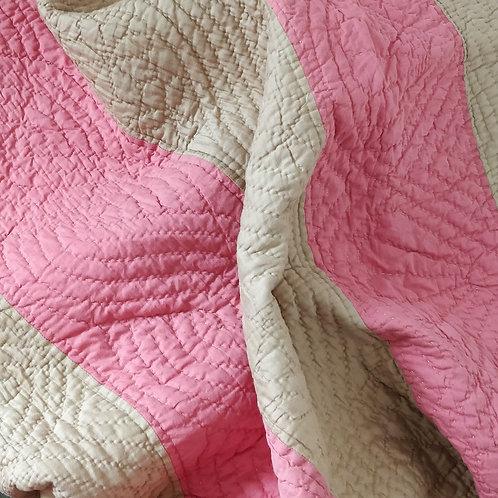 Striped, Hand Stitched Quilt