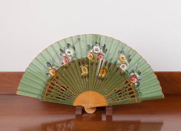 Hand Painted 1920's Folding Fan