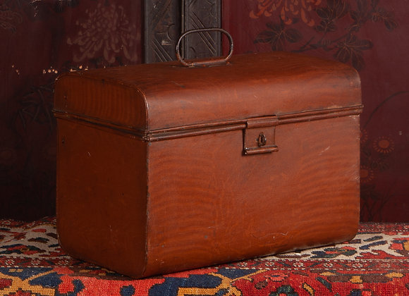 Victorian Tin Hat Box