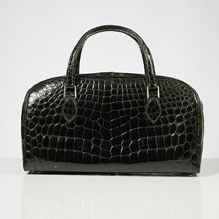 Late 20th Century Forest Green Crocodile Tote Bag circa 1990
