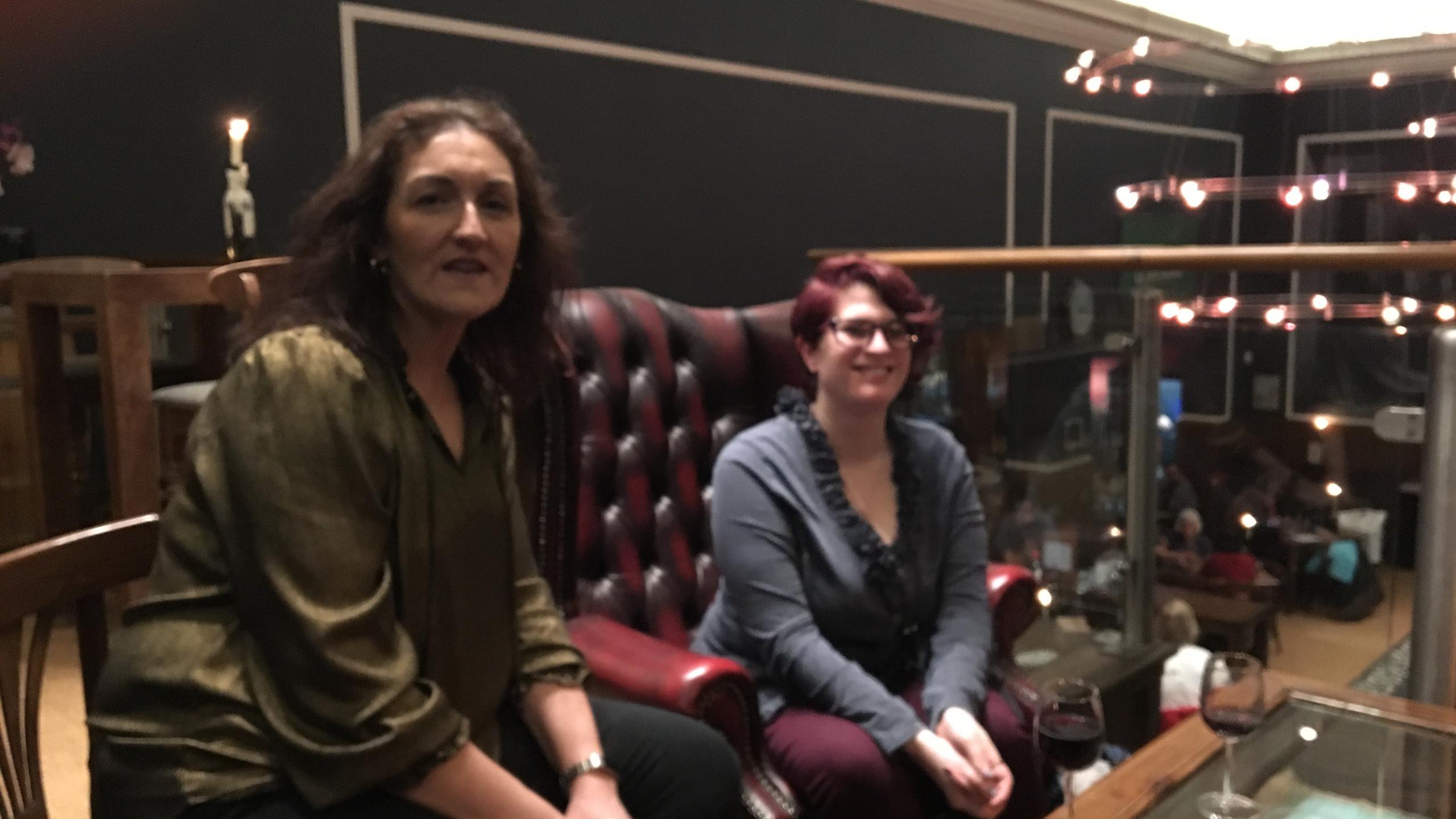 Claire Leonard (Design Team) and Lizzy Priest (Writer).