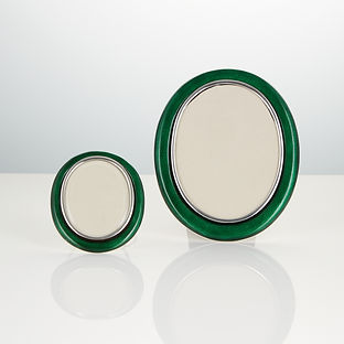 A Pair of Early Rare 20th Century Silver and Enamel Photo Frames of Exceptional Quality