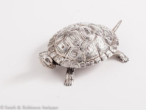 Rare Tortoise Novelty Silver Bell Dated London 1897, by Maker Joseph Braham