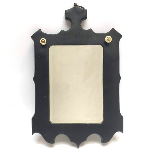 Black Framed 'Gothic' Bevelled Mirror