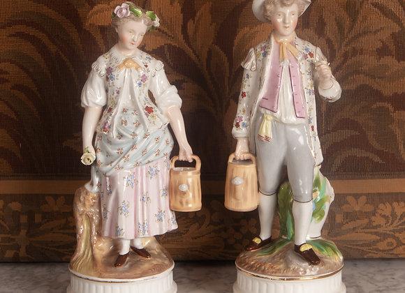 A Pair of Victorian Porcelain Figures