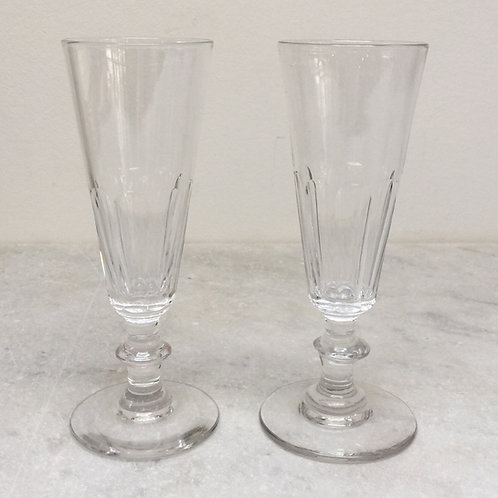 A Pair Of French Champagne Flutes
