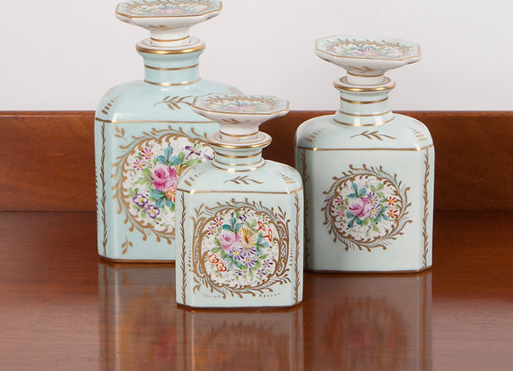 Early 20th Century Ladies Dressing Table Jars  - Set of Three