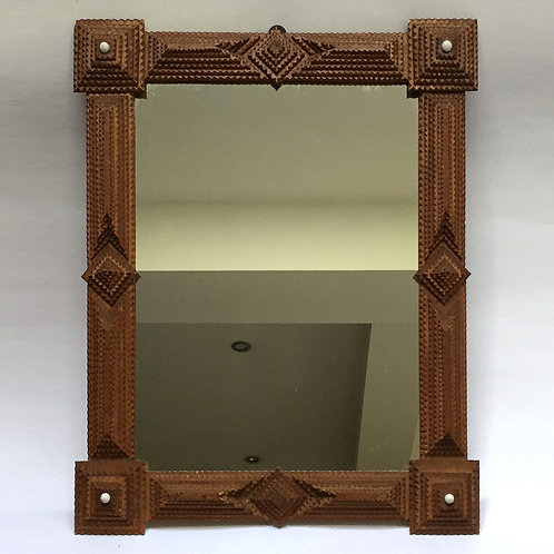 Large Tramp Art Mirror