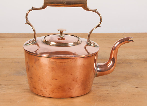 Copper Kettle with Brass Handle