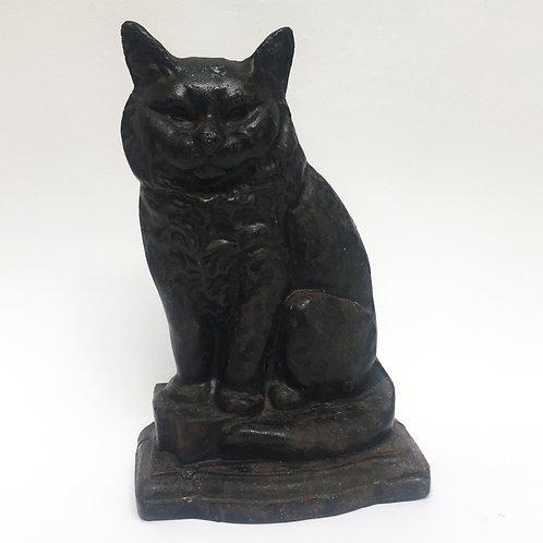 Heavy Iron Black Cat Doorstop