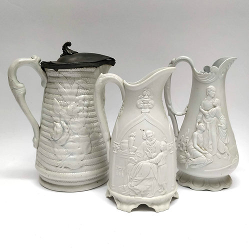 Three 19th Century Salt Glazed Stoneware Jugs
